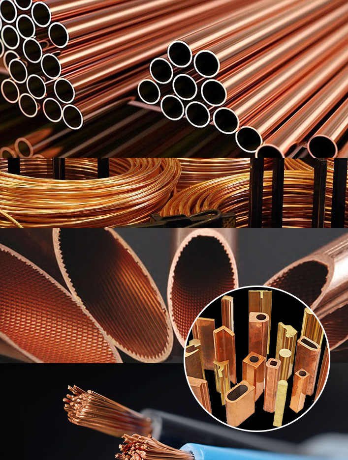 Copper & Copper Alloys Bars, Tubes, Bus Bars, C & H Clamps, Wire & Rope Conductor, Coils, Strips, Rods, Profiles Supplier